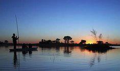 A mokoro safari in Botswana's Okavango Delta.