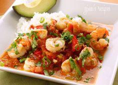 Garlic Shrimp in Coconut Milk, Tomatoes and Cilantro  by Skinnytaste