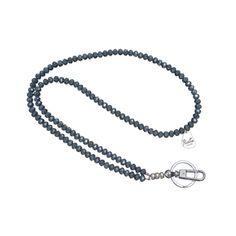 ID Badge Holder Navy Blue Crystal
