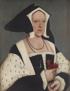 Portrait of Margaret Wotton, Marchioness of Dorset (d. 1535). After Hans Holbein the Younger, 1570-99. National Trust Inventory Number: 515504. In the collection of Anglesey Abbey, Cambridgeshire. Lady Margaret was the wife of Thomas Grey, 1st Marquis of Dorset, and the grandmother of Lady Jane Grey.