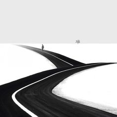 Minimalist black and white photography by Iranian photographer Hossein Zare