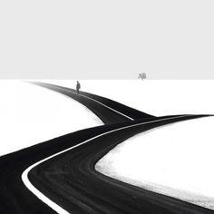 Minimalist black and white photography by Iranian photographer Hossein Zare