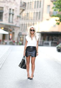 Leather Skirt  | P.S. I Love Fashion by Linda Juhola