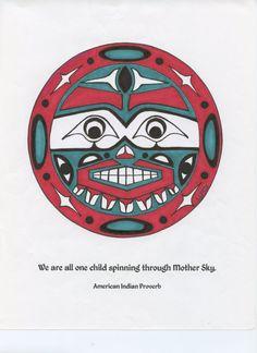 Moon Child by NativeWorldPrints on Etsy