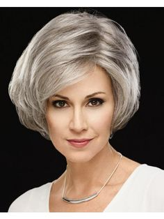Sheer Legacy Hand-Tied WhisperLite® Lace Front Wig by Couture Collection – Bob Hairstyles medium Grey Hair Wig, Short Grey Hair, Short Hair Cuts, Medium Bob Hairstyles, Older Women Hairstyles, Bob Haircuts, Medium Hair Styles, Short Hair Styles, Stylish Hair