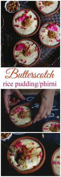 butterscotch phirni or rice pudding