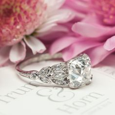 Vintage Art Deco Diamond Engagement Ring |Cypress Point