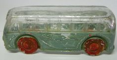 HTF Vintage Glass Chicago Greyhound Bus Candy Container Holder Dish Toy in Collectibles, Advertising, Food & Beverage Vintage Candy, Vintage Toys, Horse Race Game, Old Candy, Oak Sideboard, Holiday Candy, Candy Containers, Glass Candy, Halloween Christmas