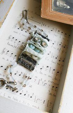 Silk and Vintage bracelet | by Rebecca Sower