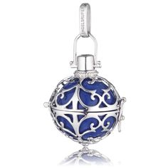 Small Silver Pendant with Blue Soundball  - ENGELSRUFER - JEWELLERY