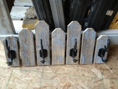 Picket Fence Coat Hook Rack by WoodenItBeNiceGP on Etsy, $65.00