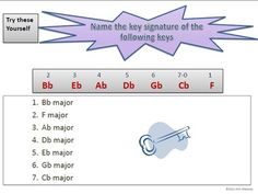 Music: Keys and Key Signatures Explained Ppt and worksheets  $