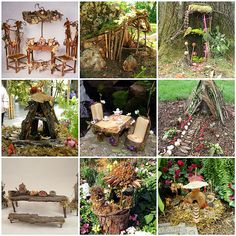 Fairy houses - fun for the garden
