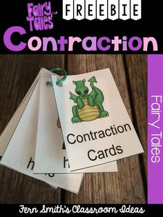 Fern's Freebie Friday ~ Fairy Tale Themed Contraction Center Game Cards #TPT #Free #Freebie