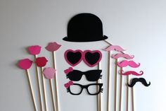 Items similar to Hello Kitty Photo Booth Prop Mask & Glasses with Glittered Hello Kitty Bow on Etsy