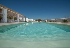 """The pool of Villa Sole is x 11 meters and has a wonderful """"Caribbean color"""". The shallow end is meters and the deep end ca. The pool has BIG stairs easy for anybody to enter and exit the pool. Jacuzzi, Vacation Homes For Rent, Naxos Greece, Luxury Villa, Beautiful Islands, Swimming Pools, Ocean, Shallow, Caribbean"""