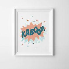 Superhero quote kaboom print printable quotecomic quote