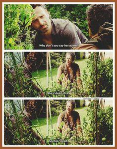 Rick Grimes - Andrew Lincoln and Carol Peletier  - Melissa McBride - AMC's The Walking Dead