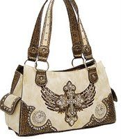 Bone Fashion Cross Purse w/Rhinestone at www.handbagsblingmore.com