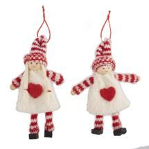 Nordic Boy & Girl Decorations - Set of Two