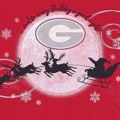 Georgia Dawgs & Santa Claus