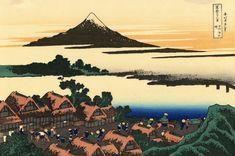 japanese art woodblock print   japanese art woodblock print 41. Dawn at Isawa in the Kai province