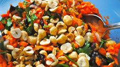 Toasted Hazelnut and Shredded Carrot Salad