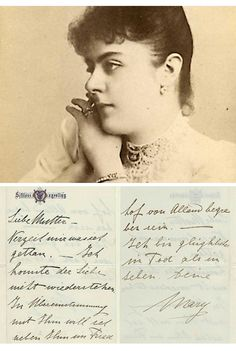 Farwell letter from Mary to her mother Helene Rodolphe, Old Portraits, Tudor History, Her World, Sissi, Austria, Lettering, Vintage, Carte De Visite