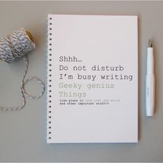 Geeky Genius notebook, £4 | 48 Lovely Little Stocking Fillers Under £15