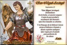 San Miguel Arcangel Oracion | Vidas Santas: Estampita y Oración a San Miguel Arcángel