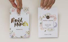 Lovely Gold Printed Wedding Invite