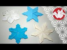 Tuto Origami - Flocons de neige [Senbazuru] - YouTube