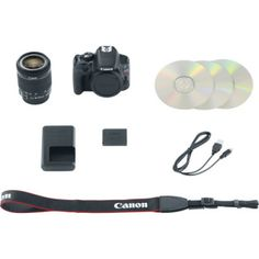 """NEW Canon EOS Rebel SL1 DSLR Camera with EF-S 18-55mm f/3.5-5.6 IS STM Lens  18.0MP APS-C CMOS Sensor DIGIC 5 Image Processor 3.0"""" Clear View II Touchscreen LCD ISO 100-12800, Expandable to 25600 Full HD 1080 Video with Continuous AF  4.0 fps Continuous Shooting 9-Point AF System Scene Intelligent Auto Mode Compact and Lightweight; Weighs 0.8 lb EF-S 18-55mm f/3.5-5.6 IS STM Lens"""