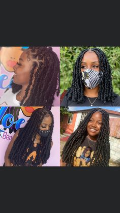 Braids Hairstyles Pictures, Faux Locs Hairstyles, Baddie Hairstyles, African Braids Hairstyles, Hair Pictures, Hairstyle Ideas, Hair Ideas, Black Girl Braided Hairstyles, Twist Braid Hairstyles