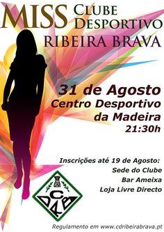Diversos │ Concurso Miss Clube Desportivo da Ribeira Brava │ 31 de Agosto │ Ribeira Brava