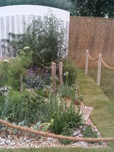 Hampton Court Coastal Garden side