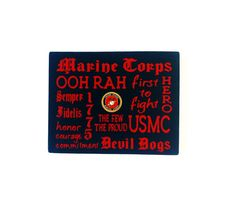 Wood Sign Marine Corps Typography Wall Decor by HandmadeByLeeAnn   22 99United States Marine Corps Fleece Tie Blanket by BlanketsUnlimited  . Marine Corps Themed Room. Home Design Ideas