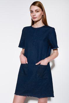 NATIVE YOUTH - DENIM RAW EDGE DRESS - #Ozon #Boutique