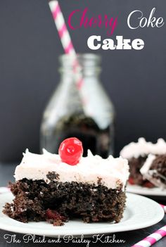 Cherry Coke Cake www.pandpkitchen.com