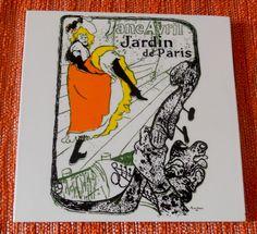 1960s novelty tile:  Jardin de Paris by Henri by BackToThe60s
