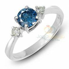 Cincin Kawin Diva Single Blue Safir