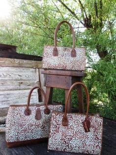 Turquoise Tooled Leather Handbags