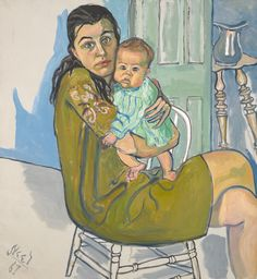 Alice Neel - Mother and Child (Nancy and Olivia), 1967