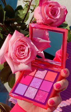Pink Eyeshadow Palette, Neon Eyeshadow, Pink Palette, Aesthetic Roses, Neon Aesthetic, Makeup Wallpapers, Beautiful Eye Makeup, Pink Wallpaper Iphone, Pink Makeup