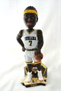 Jermaine O'neal Official NBA courtside 12 inch Bobble Head Indiana Pacers white jersey Jermaine O'neal, Indiana Pacers, White Jersey, Bobble Head, Samurai, Nba, Samurai Warrior