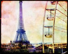 Paris Eiffel Tower Vintage<p>Vintage, in winemaking, is the process of picking grapes and creating the finished product (see Harvest (wine)). A vintage wine is one made from grapes that were all, or primarily, grown and harvested in a single specified yea