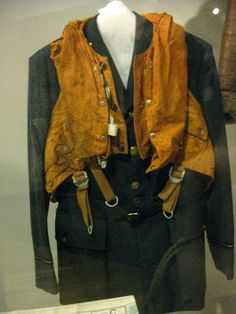 RAF jacket and lifejacket from the York Castle Museum. #forties #history #worldwartwo #wwii #londonblitz #homefront
