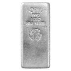 1 kg Ohio Precious Metals Silver Bar