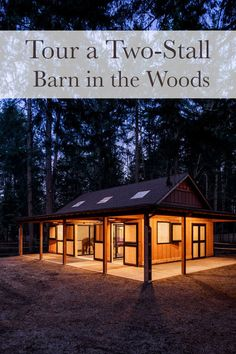 Tour a two-stall barn in the woods designed with the horse in mind.