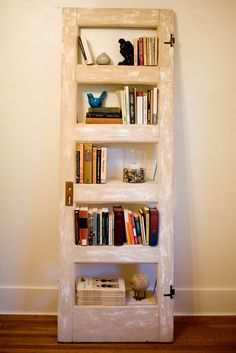 Vintage Door repurposed Bookshelf